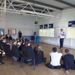 Richard Buck coaches Caterham Pupils