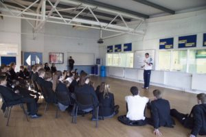 Richard Buck coaches Caterham Pupils